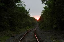 Free Sunset On Tracks Stock Photos - 171793