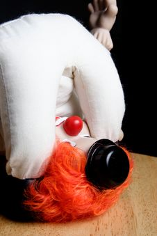 Free Clown Upside Down Looking At Own Stock Image - 179711