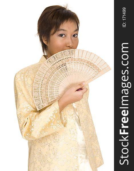 Asian Model with Fan 1