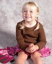 Free Girl Posing On Gray 5 Stock Photo - 1703750