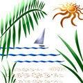 Free Tropic Sailboat Art Royalty Free Stock Photos - 1708928