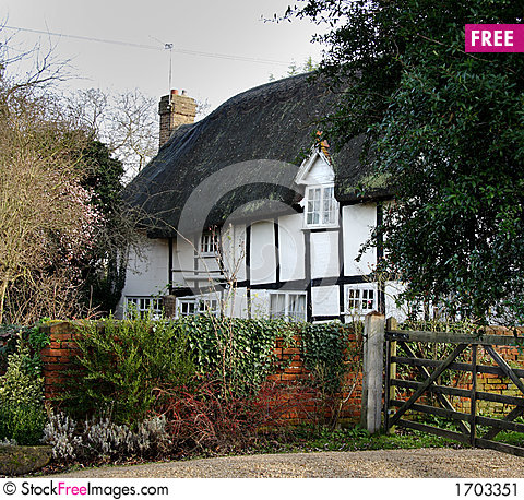 Free Thatched Village Cottage Stock Image - 1703351
