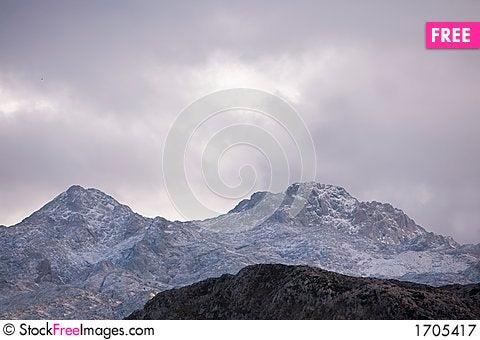 Mountain with snow Stock Photo