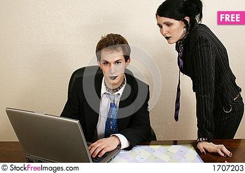 Goth Business Team Stock Photo