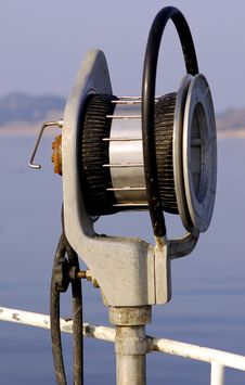 Free Fishing Winch In Down Stock Image - 1700321