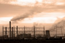 Free Industrial Scene In Sepia Stock Photos - 1702523