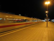 Free German Train At Night Stock Photo - 1704990