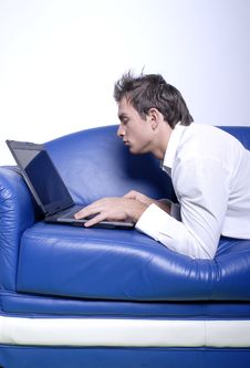 Free Yuppie With Laptop Stock Image - 1706481