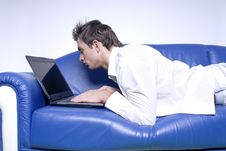 Yuppie With Laptop Stock Photo