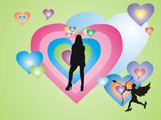 Free Cupid S Target Stock Image - 1707181