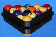 Free Pool Balls On Blue Stock Image - 1707291