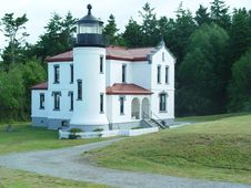 Free Light House At Fort Casey Royalty Free Stock Photo - 1708135