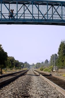Free Walking Over The Tracks Royalty Free Stock Images - 1708589