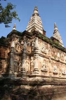 Wat Chedi Jed Yod, Chiang Mai, Thailand Royalty Free Stock Photos