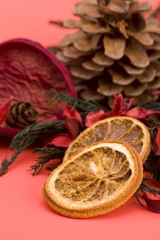 Mandarin,Cloves & Cinnamon Royalty Free Stock Image