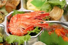 Shrimp Tray Detail Stock Photos