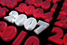 Free 2007 In White Stock Photo - 1709470