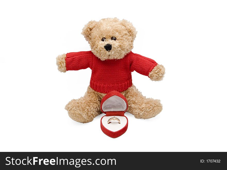 Teddy and engagement ring