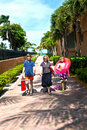 Free Mother With Sons On The Way To The Beach Stock Images - 17001134