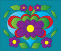 Free Flower Heart Color Illustration Royalty Free Stock Photo - 17001475
