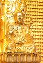 Free Golden Buddhist Monk In Dragon Temple Royalty Free Stock Photos - 17003408