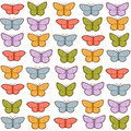 Free Colorful Butterflies Pattern Royalty Free Stock Photos - 17004198