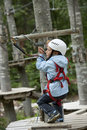 Free Little Boy In Adventure Park Royalty Free Stock Photography - 17004967