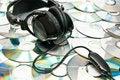 Free Headphones On Cds Stock Image - 17007811