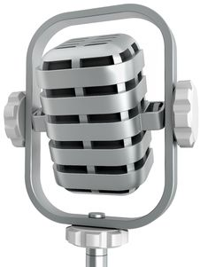 Microphone For Translation Royalty Free Stock Photography