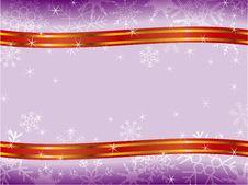 Winter Christmas Frame Pattern Stock Photo
