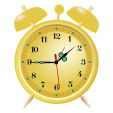 Free Golden Alarm Clock Royalty Free Stock Image - 17000966