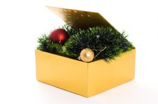 Free Box With Xmas Decoration Royalty Free Stock Photography - 17000977