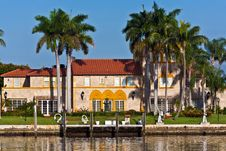 Beautiful Houses Downtown At The Waterfront Stock Photo