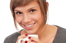 Free Girl With Cup Royalty Free Stock Images - 17001239
