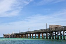 Free Pier On A Beach In Miami Royalty Free Stock Images - 17001269