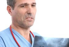 Doctor Looking At A Xray Stock Photos