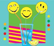 Free Three Smiley Drinking Stock Photo - 17001480