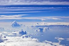 Free Puffy White Cloud Blue Sky Royalty Free Stock Photos - 17001638