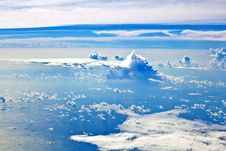 Free Puffy White Cloud Blue Sky Stock Photography - 17001642