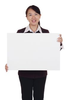 Free Woman With Placard Royalty Free Stock Photos - 17001668