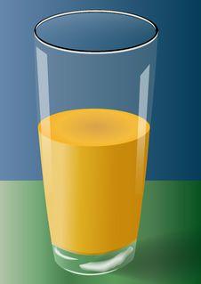 Free Glass Of Mango Juice Stock Image - 17001701