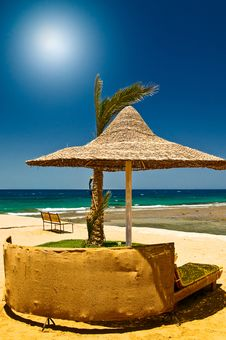 Free Beautiful Tropical Beach In The Egypt. Royalty Free Stock Image - 17001786