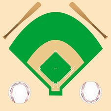 Free Baseball Background Royalty Free Stock Images - 17001889
