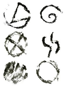 Free Ink Symbols Set Royalty Free Stock Photo - 17002125