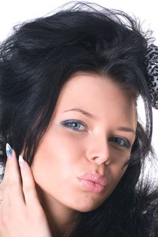 Free Glamour Woman Close-up Stock Image - 17002131