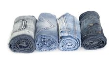 Free Heap Rolls Of Jeans Stock Image - 17002201