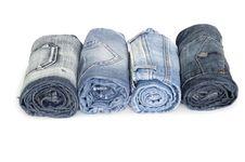 Heap Rolls Of Jeans Stock Image