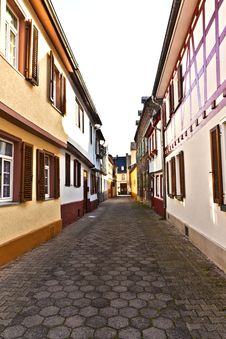 Medieval Street With  Half-timbered Houses Royalty Free Stock Images