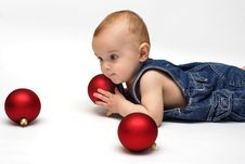 Baby In The Play Royalty Free Stock Photos