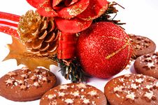 Free Christmas Biscuits Royalty Free Stock Images - 17003439